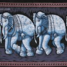 elephant batik wall hanging cotton wax painted tapestry Indian ethnic art decor