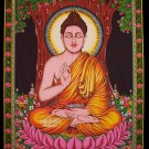 buddhist buddha sequin wall hanging batik tapestry ethnic yoga decor India nepal art
