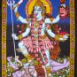 hindu death goddess kali shiva sequin cotton wall hanging tapestry India art