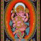hindu deity elephant god dancing Ganesha ganesh sequin wall hanging tapestry decor art