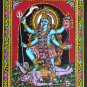 Death goddess kali shiva sequin wall hanging ethnic hippie tapestry batik art