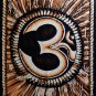 hindu sacred om aum mantra sequin wall hanging tapestry batik painted yoga art