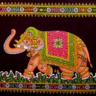 elephant sequin wall hanging tapestry ethnic indian batik home decor asian art