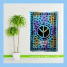 "Peace Sign Symbol Tie Dye Tapestry Bohemian hippie Wall Hanging twin dorm bedspread 55"" x 85"""