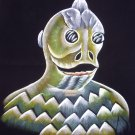 original black velvet hand painting of sleestak land of the lost 1974 TV series