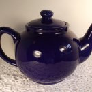 Cobalt Blue Classic Teapot Ceramic 1 Quart Tea Pot Home Decor