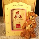 "Photo Frame Teddy Bears Friends Girlfriends Forever Gund 2"" x 3"" Yellow Pink"
