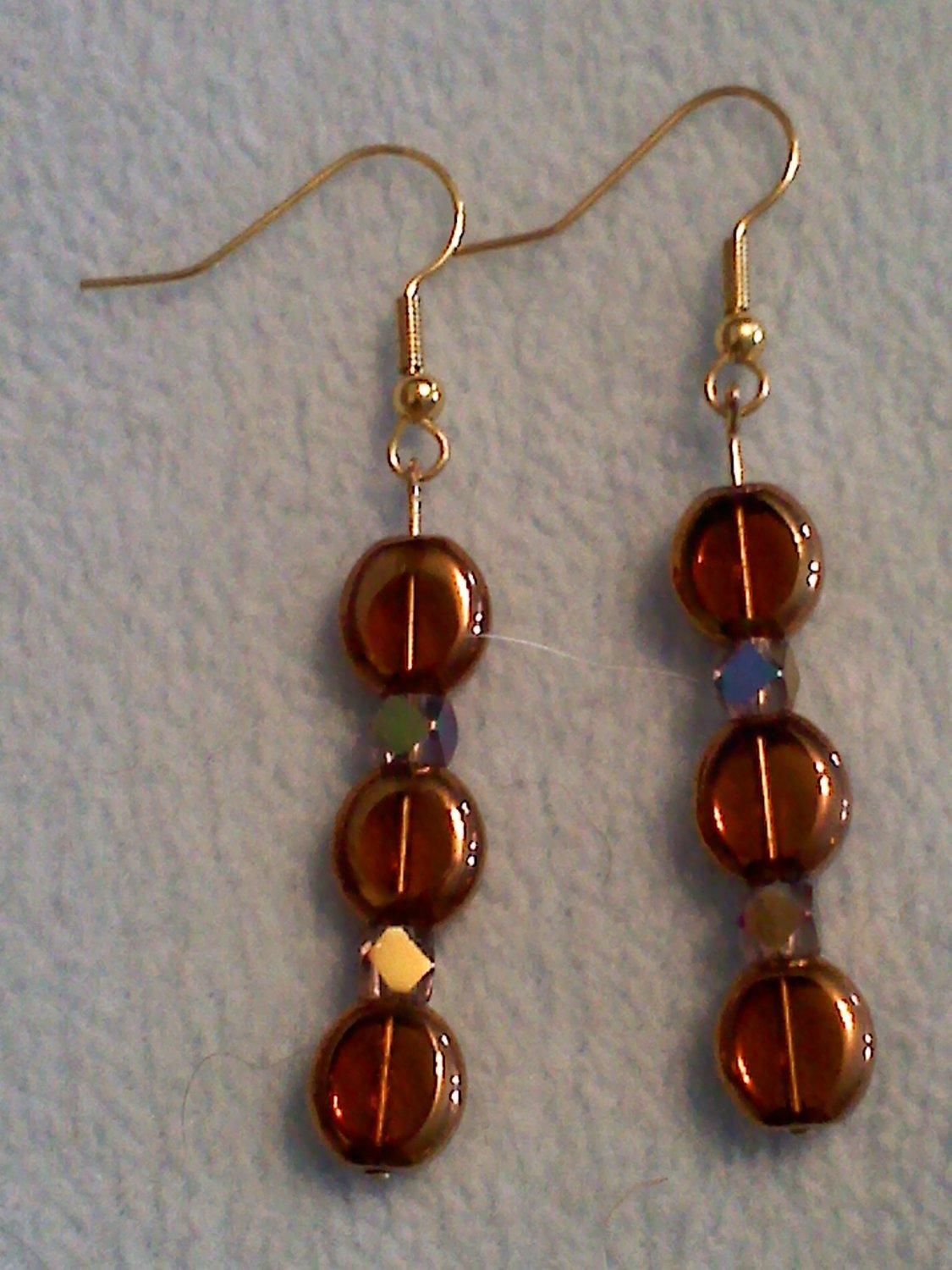 Brown and crystal