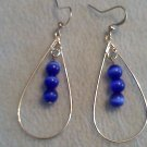 Blue tear drop dangle