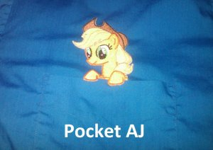 Applejack Pocket Topper Patch