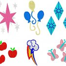 Embroidery Files - 50+ MLP Cutie Marks in 200+ Sizes