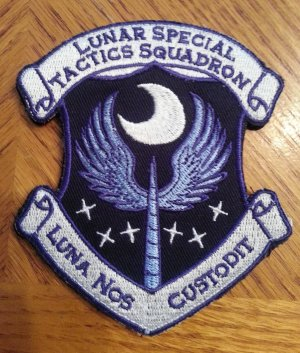 Light Luna Latin Patch With Velcro