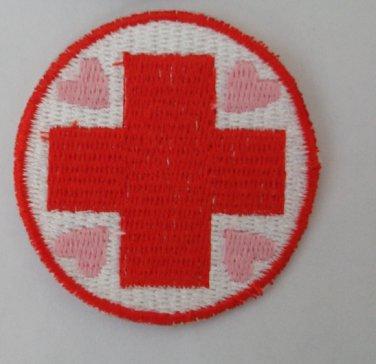 2 inch Nurse Redheart Merit Badge