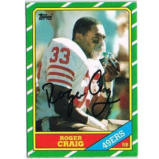 Roger Craig autograph 1986 Topps card