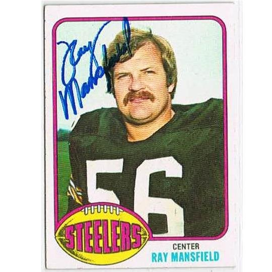 RAY MANSFIELD autograph 1976 Topps card d.1996