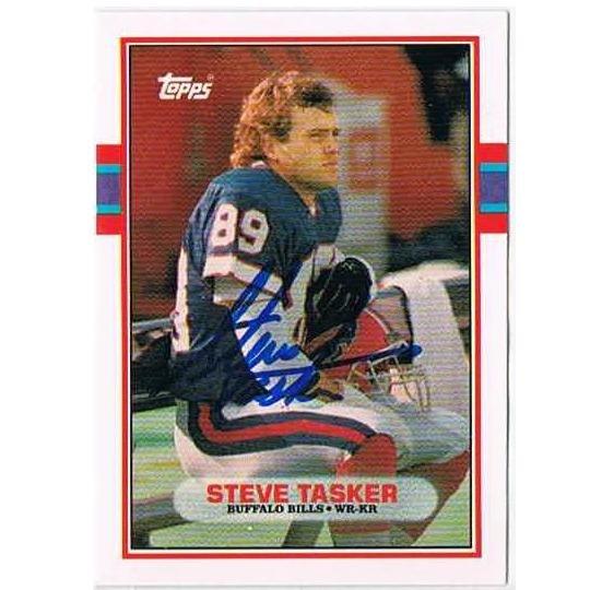STEVE TASKER autograph 1989 Topps Rookie card