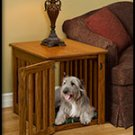 Wood Dog Crate Maple Large