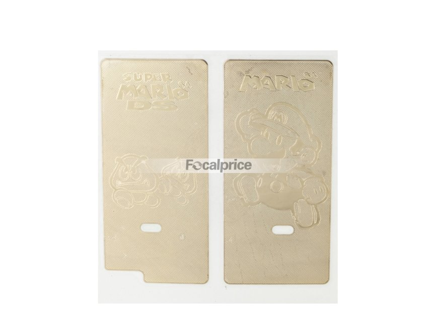 Mario Design Decorative Metal Slim DS Lite Sticker Kit (Golden)