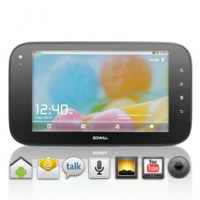 Android 2.2 Tablet with HD 7 Inch Capacitive Touchscreen + Cortex A8 Processor