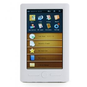 5 Inch Touchscreen E-Book Reader and HD Media Player