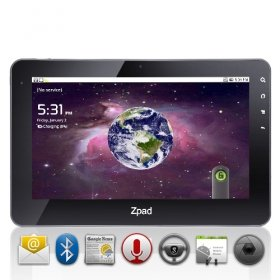 Malata Z Pad - 10.1 Inch Android 2.2 Dual Core Tablet with Capacitive Touchscreen