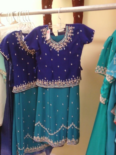 Turquoise & Blue Indian Outfit