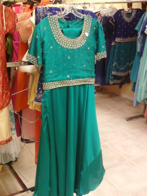 Turquoise & Gold Indian Outfit