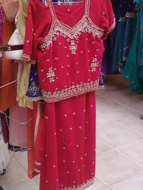 Red & Gold Indian Lengha