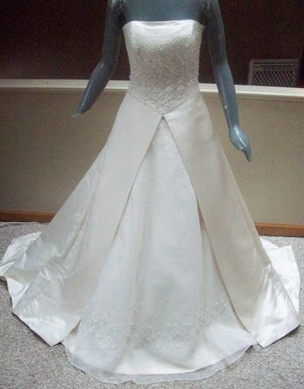NWT Maggie Sottero A line Creme Gown