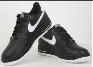 Air Force 25 Black/White Low