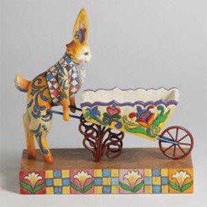 Jim Shore Heartwood Creek Bunny/Wheelbarrow #4001849
