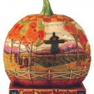 Jim Shore Heartwood Creek Large Pumpkin w/ Scene Figurine