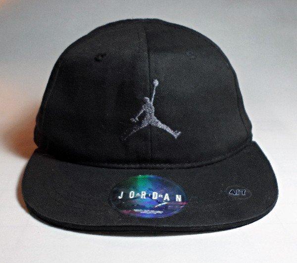 Nike Air Jordan Jumpman Cap, Youth Size 4/7, Black