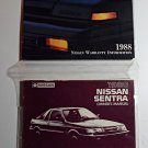 1988 Nissan Sentra Owner's Manual (Original/OEM)