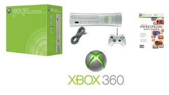 "Xbox 360 ""Core"" Video Game System with 6 of the Coolest Games !!!"