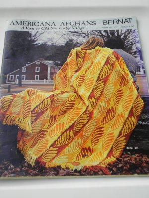 Americana Afghans Bernat Book No. 211 A visit to Old Sturbridge Village