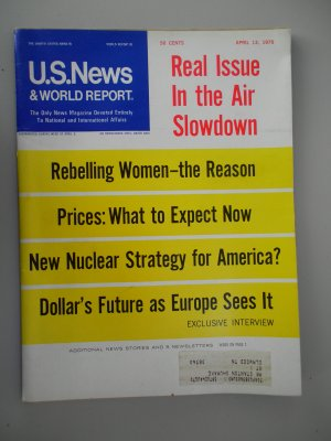 3 U.S. News & World Report Magazines 1970  What's Going on Inside America Rebelling Women Nixon