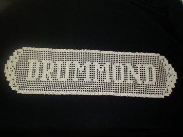Your Name in Filet Crochet Hand Crochet