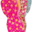 5 *NEW* GIRLY flannel baby BURP CLOTHS - SOFT & CUTE!!