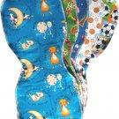 5 *NEW* BOY flannel baby BURP CLOTHS - SOFT & so CUTE!