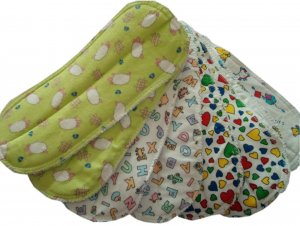 12 NEUTRAL DIAPER LINERS (DOUBLERS)