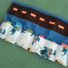 Car Travel Caddy Roll Up for 6 Matchbox or Hotwheels size cars - Blue Batman