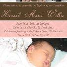 Cute! 10 Printed Baby Baptism Photo Invitations Girl Boy - Pink Blue Any Color Batizmo Invitaciones
