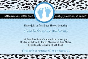 Cute! 10 Printed Baby Shower Jungle Leopard Invitations Girl Boy - Pink Blue Any Color Twin Zoo