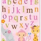 8x10 Jungle Animals Art Print Room Nursery Wall Decor Baby Girl Boy Children Kids Zoo Safari
