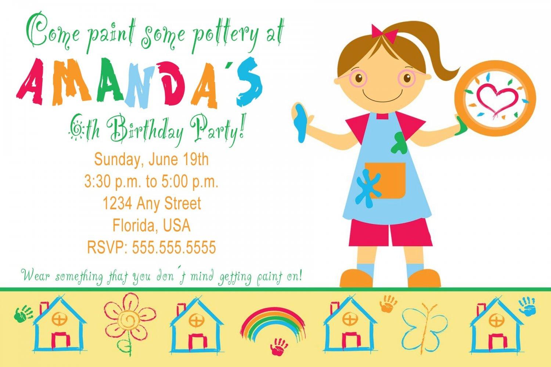 4x6 or 5x7 Pottery Art Birthday Party Photo Invitations Boy Girl Print Yourself U
