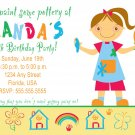 4x6 or 5x7 Pottery Art Birthday Party Photo Invitations Boy Girl Print Yourself U