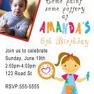 10 4x6 Pottery Art Birthday Party Photo Invitations Boy Girl 1st 2nd