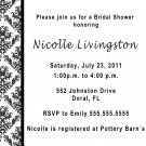 100 ct 4x6 Wedding Engagement Anniversary Party Invitations Damask Monogram Black White Floral