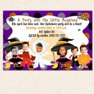Print your own - Halloween Birthday Party Photo Invitations Costume Witch Dracula Girl Boy Twins